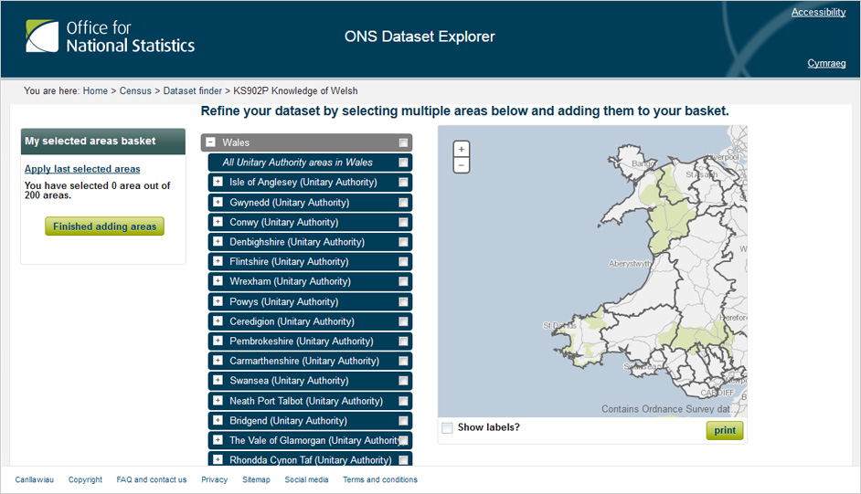 ONS - Map page